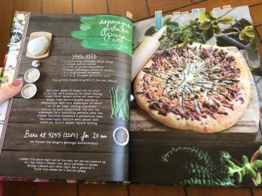 asparagus pistachio pizza